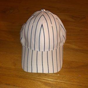 Blue strike snap hat